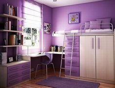 Teenage Girls Rooms Inspiration: 55 Design Ideas Teen Bedrooms, Small Bedrooms, Teenage Girls, Girls Bedrooms, Small Rooms, Bedrooms Decor, Purple Bedrooms, Girls Rooms, Bedrooms Ideas