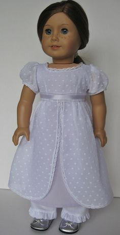 Regency Dress and Pantalettes for American Girl Doll Caroline