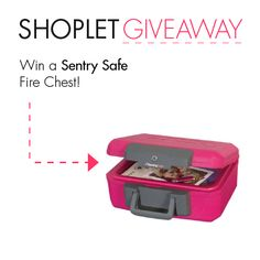 #WIN a Sentry Safe Fire Chest! Repin, then go to our blog and leave us a comment letting us know what you'd keep safe in this fire chest :) Good luck!