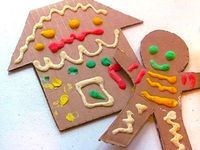 Puffy Paint Gingerbread Man Craft - Things to Make and Do, Crafts and Activities for Kids - The Crafty Crow