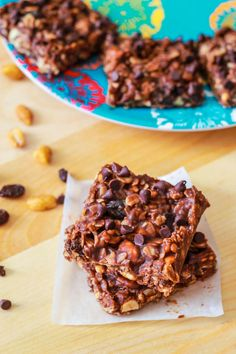 Homemade Chewy Fudge Granola Bars