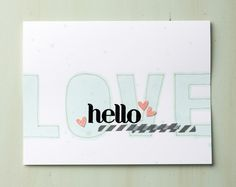 Use MDS to create stencils you can use to spritz or sponge with. This card use the Hello There download that was cut into a stencil then spritzed onto the card.