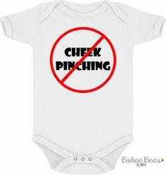 No Cheek Pinching - Funny Baby Clothes - Funny Toddler Clothes - Funny Baby Shower Gift - 2t Clothes - 3t Clothes - 4t Clothes - Baby Tshirt...