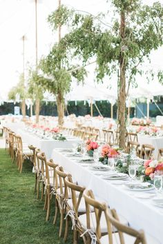 Rustic + Romantic Ojai Valley Inn Wedding by All You Need is Love Events; wedding tent with built in trees
