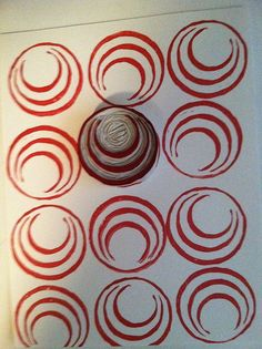 Extra Large Circle Carved Stamp by Nanc Lynn, via Flickr