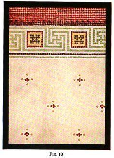 Floor mosaic tile pattern from 1916 tile design manual.