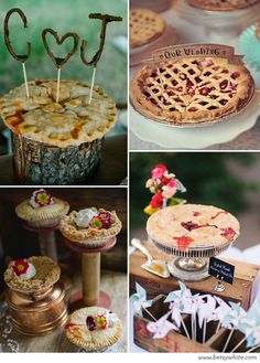 What about pie instead of a wedding cake?