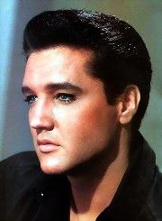 1960's Elvis decked out in black