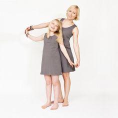 Emilka - Takie same szare sukienki dla mamy i córki / Emilka - matching grey dresses for mother and daugther