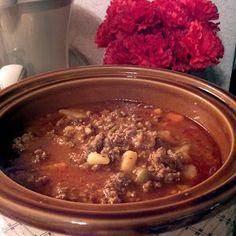 Crockpot Hamburger Soup. This is so good!