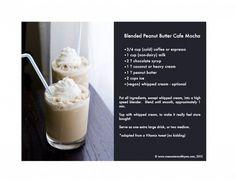 Peanut Butter Mocha by rosewaterandthyme #Coffee #Peanut_Butter #Mocha peanuts, summer drinks, protein shakes, butter mocha, recipe cards, breakfast drinks, cafe mocha, blend peanut, peanut butter