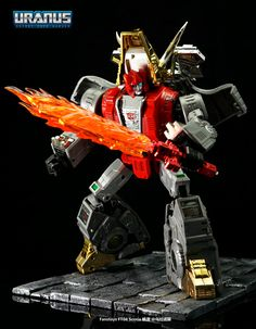 Slag Dinobot with Flaming sword