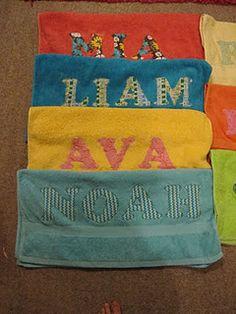 Appliqued Towels
