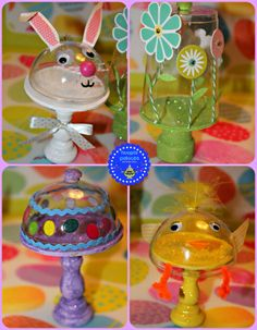 hoopla palooza: mini easter candy-filled cakestands
