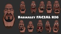 Barmaley. Face rig