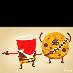 Han solo cup and chewy cookie!