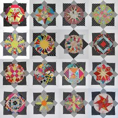 This quilt could go onto many different boards. Charming, delightful use of black and white!