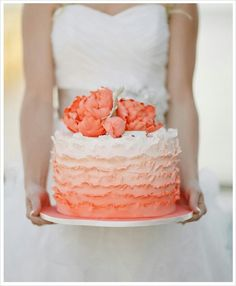 Ombre cake - a bit trendy at the moment, but so elegant.