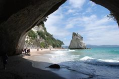 cathedr cove, auckland, chronicles of narnia, visit, places, beach, new zealand, island, zealand travel