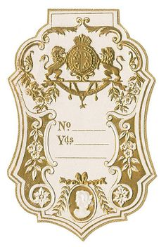 Antique French Perfume Label