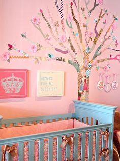 #DIY: How to Make a #Decoupage #Tree   #nursery