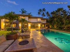 Stunning Hawaiian estate has it all! Indoor and outdoor lifestyle awaits you with pool, hot tub, and cabana with outdoor kitchen!