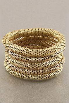 Golden Adette Bracelet Set.