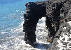 """A lava arch on the Big Island."" (From: 30 Beautiful Photos of the Hawaiian Islands)"