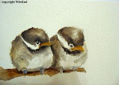 """The Terrible Two's"", in watercolor,  sold"