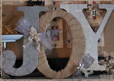 decorated chipboard letters