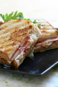 camping recipe: dutch oven turkey paninis