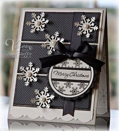 black & white Christmas card