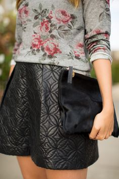 Florals & leather for fall