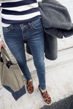 stripes and leopard sneakers