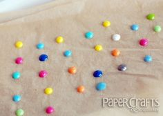 DIY Enamel Dots - melt pony beads in the oven - bjl papercraft, fuse beads, pony beads, melted beads, making enamel dots, diy enamel dots, perler beads, card, paper crafts