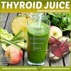 thyroid juic, thyroid health, green, food, juice recipes