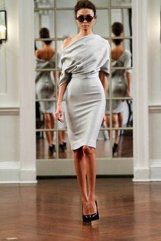 Vanity Butterfly: Victoria Beckham's Dresses by karley.gillis indulgy.com fashion style, elegant dresses, outfit, victoriabeckham, victoria beckham, one shoulder, fall chic, work dresses, grey dresses