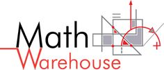 Math Warehouse Home Page    wonderful math resource