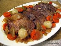 No hassle chuck roast. (Not slow cooker, but an easy oven recipe.)