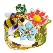 ring, christians, bees, jewelry art, christian dior