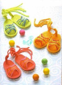 Julie Sandals free crochet graph pattern