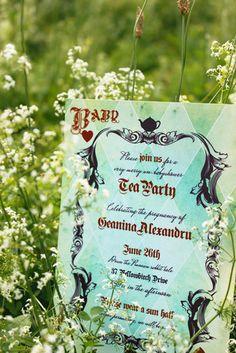 Alice in Wonderland Wedding Theme Invitation Ideas