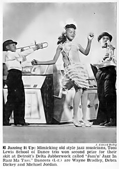 During the Delta Sigma Theta Sorority Jabberwock in Detroit, Michigan - Jet Magazine, March 13, 1958 by vieilles_annonces, via Flickr
