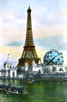 Eiffel Tower as it was during the 1900 Exposition Universelle