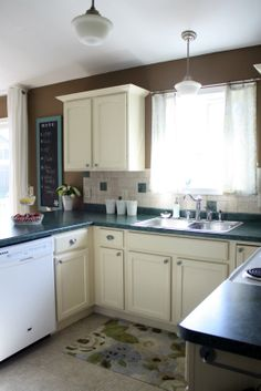 IHeart Organizing: FINALLY! How to Paint Cabinets & Trim!