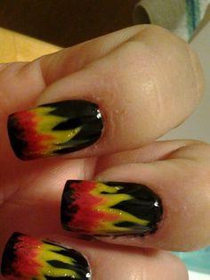 Flames nails