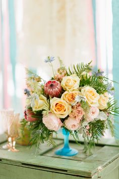 Gorgeous Centerpiece   Photography: City Love Photography   Read More: http://www.stylemepretty.com/2014/02/18/pastel-bridal-inspiration-shoot/