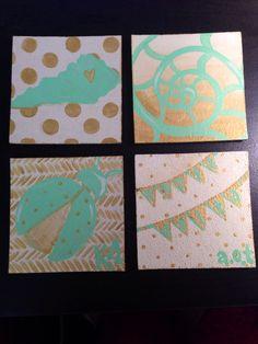 kappa delta big little crafts, canvas ideas, big little crafts kappa delta, bug, soror canvas, craft ideas