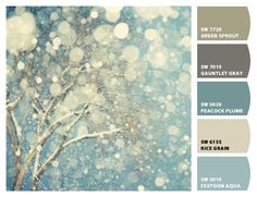 Paint colors from Chip It! by Sherwin-Williams winter snow, painting art, tree, blue, winter wonderland, white, landscape photography, winterwonderland, snowflak