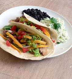 Slow Cooker Pork Tacos with all the extras - Cafe Rio Knock-offs